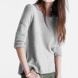 MADEWELL Grey Knit Riverside Texture Sweater